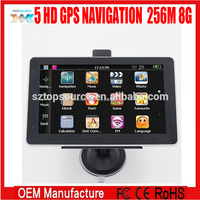 5 INCH hd 800*480 DDR 256M 8GB car truck Gps navigation navigator Windows ce 6.0 FM