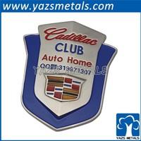 YAZS shenzhen factory custom metal car logo brand car emblem