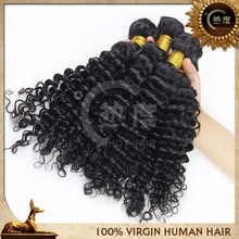 Grade 6a 20 inch virgin remy brazilian hair deep wave/curly hair weave