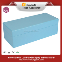 Light Blue Lacquered Wooden Jewellery Packaging Box For Gift WH-S-072