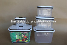 100% airtight and waterproof plastic food container with lids