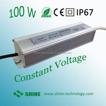 High quality 3 years warranty same quality as meanwell waterproof ip67 ip68 led driver power supply 24v 12v 100w