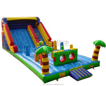 cheap commercial giant inflatable slide, inflatable jumping slide