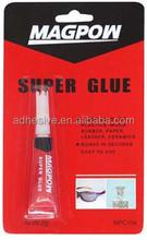 Super glue for metal, wood, plastic, rubber