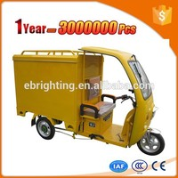 size tandem cargo tricycle for adults with durable cargo box
