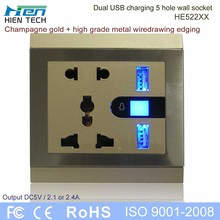 With 2 USB charging ports open mounted socket support conceal mounted also
