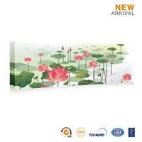 Chinese Wholesale Beautiful Custom Lotus Pond Oil Painting