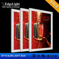 Edgelight Customized Design aluminum small display light box CE UL RoHS Approved