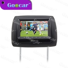 """2015 new panel with blue screen and Multilingual menu 7"""" headrest monitor"""