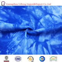 wholesale high quality 42s 100%cotton tie-dye french rib fabric
