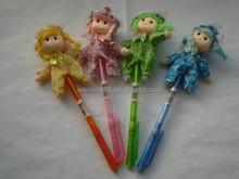 Hot selling fancy toy doll ball pen
