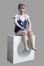 Good quality export mannequin children sitting
