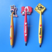 Canada souvenir promotion gifts pvc ball pen with magnet, Canada maple ball pen sticker