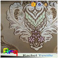 "Luxury high class jacquard khaki brown blue color fabric, width 110"" for hall curtain church curtains"
