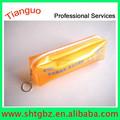 Plástico PVC bolso del lápiz. caja de lápiz del pvc. lápiz de la escuela casos