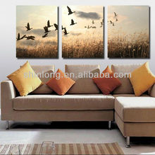nature scenery glass wall picture for living room