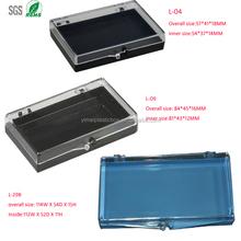 false eyelash packaging box, 3 sizes. Plastic material and hinged style