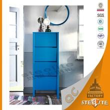 Novel Design Customized Blue Color Ikea 4 Drawer Storage Locker