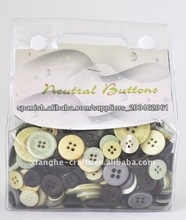 botones neutros mezclados para scrapbooking