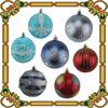 2015 Promotion Plastic Cheap Hand painting Xmas Ball Christmas ball