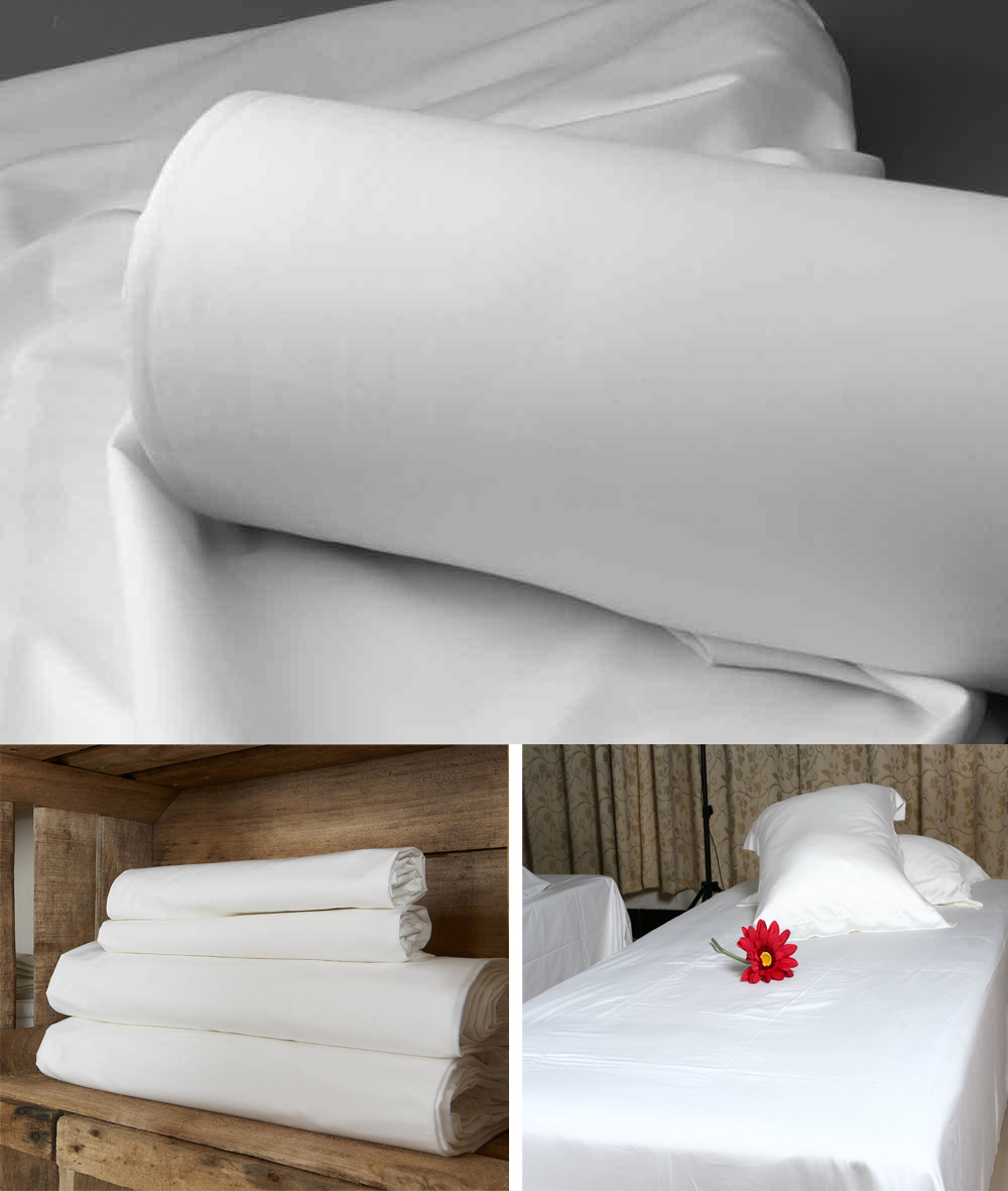 Wholesale plain white cotton fabric for bed sheet pillow for How to change a duvet cover by rolling