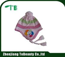 flower pattern winter hat