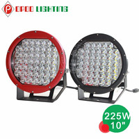 2015 new round spot high power 10inch 225w auto 12v led driving lights