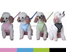 New brand Pet Soft Harness cotton polka dot with belt PH11