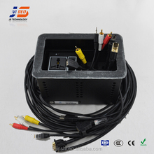 JS-611 conference cable desktop outlet box With HDMI VGA RJ45 USB