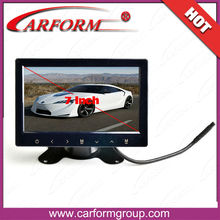 2014 new product car rear view system TFT LCD 7 inch stand alone monitor 12v dc input with VGA AV HDMI