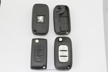 factory direct replacement peugeot remote car key shell with middle light button auto key case for Peugeot