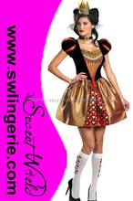 Womens Alice In Wonderland Movie Red Queen Costume Party fancy dress CW-1059