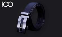 custom wholesale no buckle men genuine leather belt guangzhou