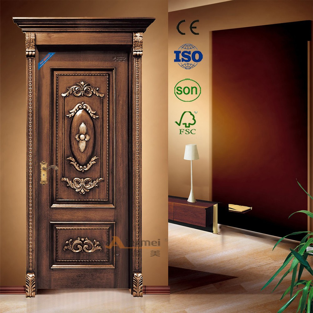 3 panels single leaf solid wood old wood door buy old for Home front door design indian style