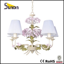 SD0877-5 used in the living room country styel shining color mini rose decorative flower chandelier