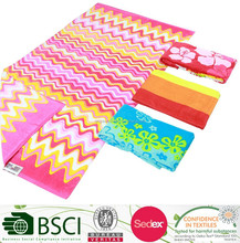 Cotton Double Side Printing Beach Towel Stripe Design