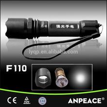 1*2200mAh 18650 green led flashlight