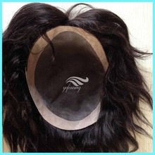 Factory Sale Human Hair Quality pu Base Injection Toupee
