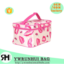 satin material fashion camping travel hanging cosmetic bag