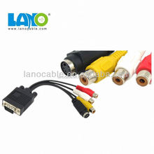 Male to female vga cable to rca internal