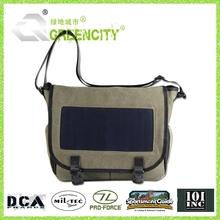 solar power shoulder bag charging bag for laptop and mobile phones