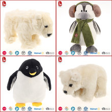 2016 High quality stuffed used outdoor polar animals toys Chinese manufacture wholesale passed WC/BSCI