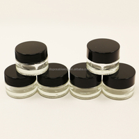 Reusable bho container 5ml small glass jar for bho extraction wax shatter storage container glass material essential oil jars
