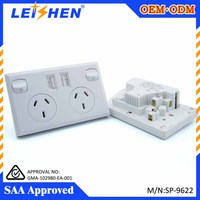 SAA Standard Waterproof electric usb australia/new zealand wall socket for bathroom and sitting room and bed room use 10A 240V