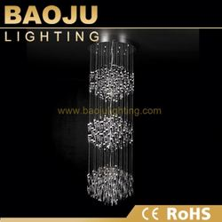 Decoration China colorful k9 crystal chian chandelier l China factory