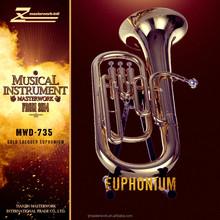 Student bb key yellow brass body euphonium
