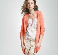 Ladies pure mercerized cotton sweater cardigan SWT-L1108