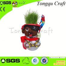 Nuevos de visita del diseño objetivos decoración del jardín negro trapo muñecas, cabeza de la hierba