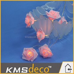 battery operate rose flower string lights wedding party decorative lights home decoration