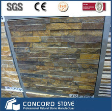 stacked stone panel multicolor rusty slate